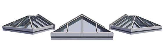 Double Pitch Skylight w/Hipped End