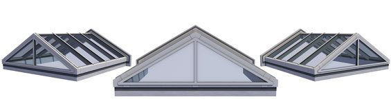 Double Pitch Skylight w/Gable End
