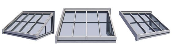 Single Pitch Skylight w/Gable End