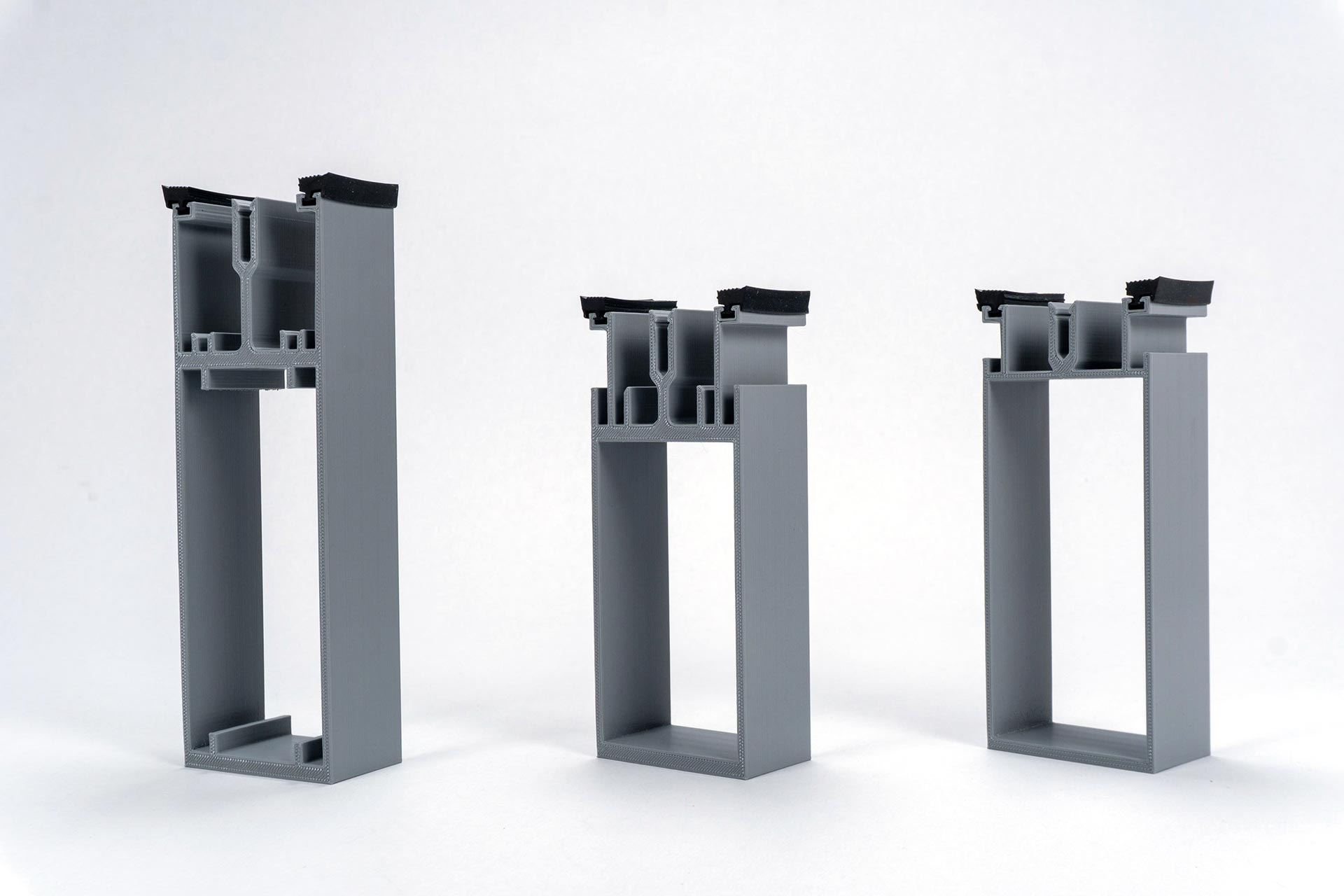 Penn State HUB:  3D printed 3 stage gutter system extrusions